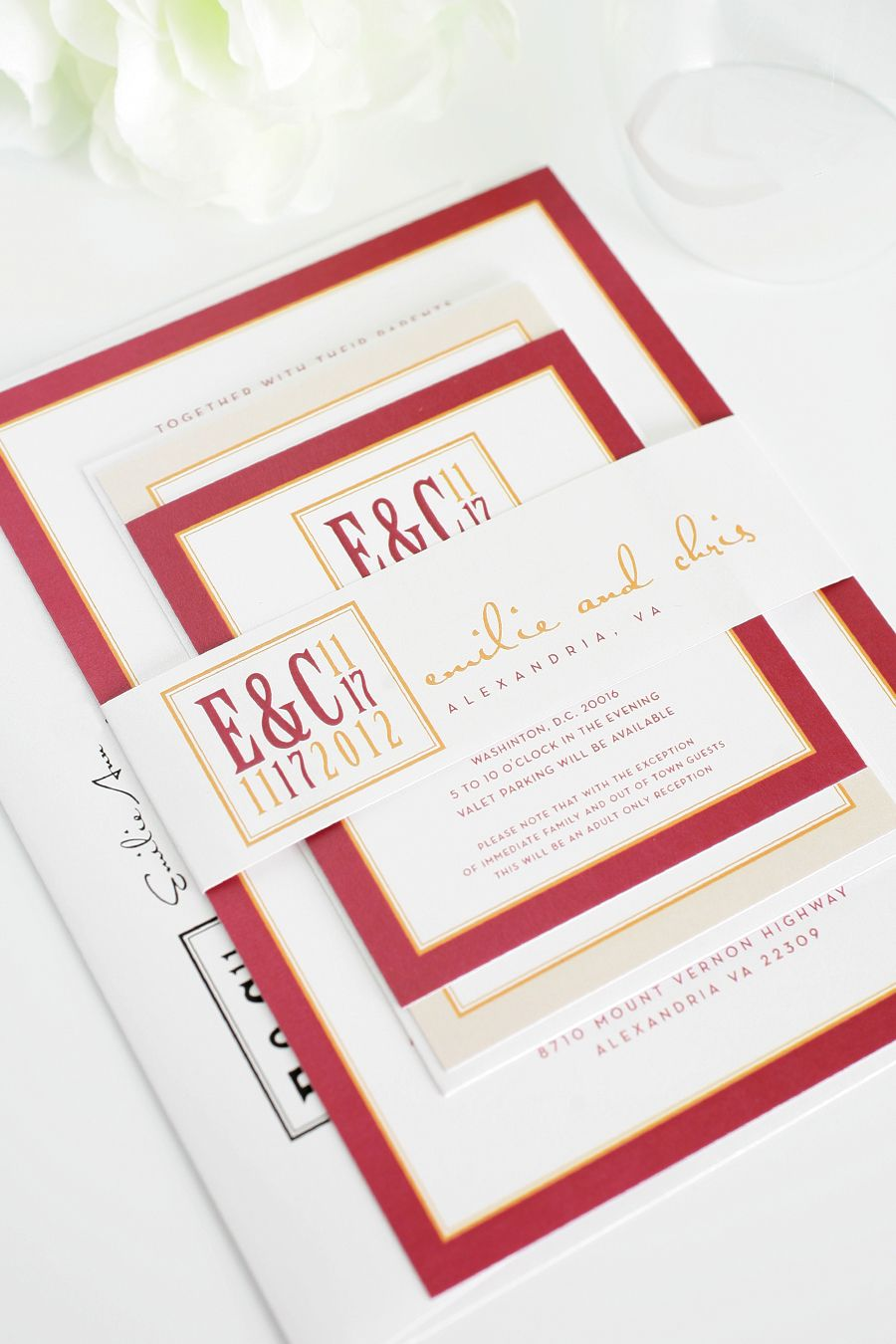 Fall Wedding Invitations in Red and Orange | Pinterest | Shine ...