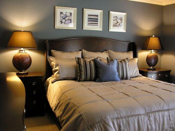 Stormy Blue Master Bedroom