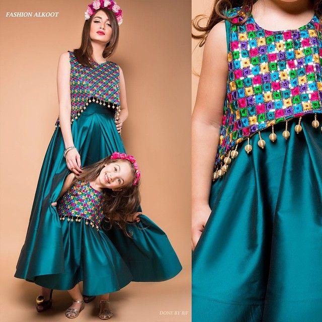 Nora Almomen Alkoot On Instagram تألقي انت و ابنتك بأزياء الكوت Alkoot New Kids Collection Girls Peasant Dress Girl Dress Patterns Pretty Dresses