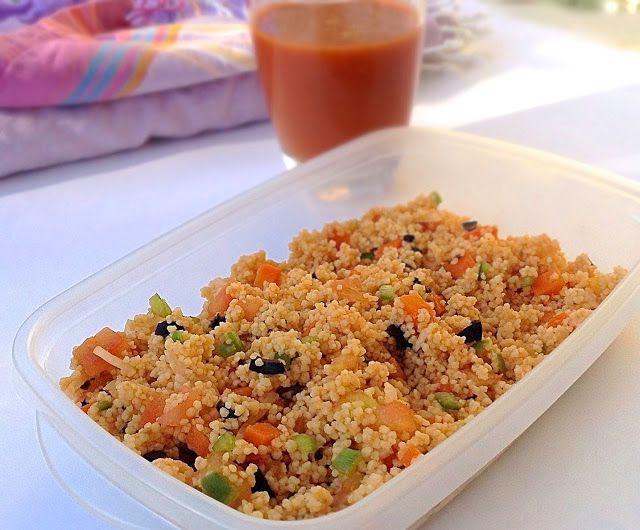 HOY COMEMOS SANO: 1. Ensalada de couscous con gazpacho
