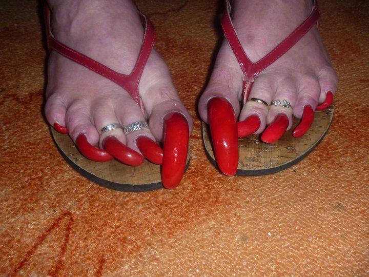 Beautiful Long Toenails Arinda Storm Weaver S Long Beautiful Toe Nails 6 Toe Nails Long Toenails Red Pedicure