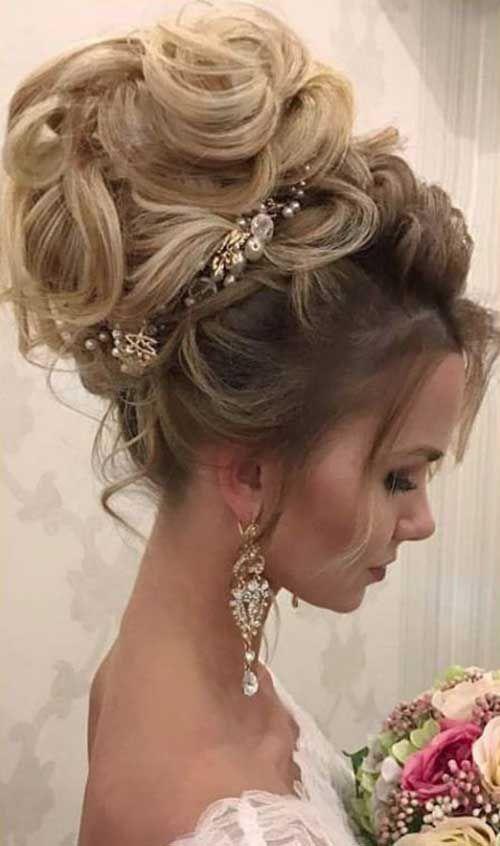 Peinados glamorosos de la boda para las mujeres Beauty