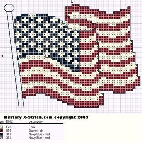 Free Usa Flag From Military X Stitch Com With Images Flag