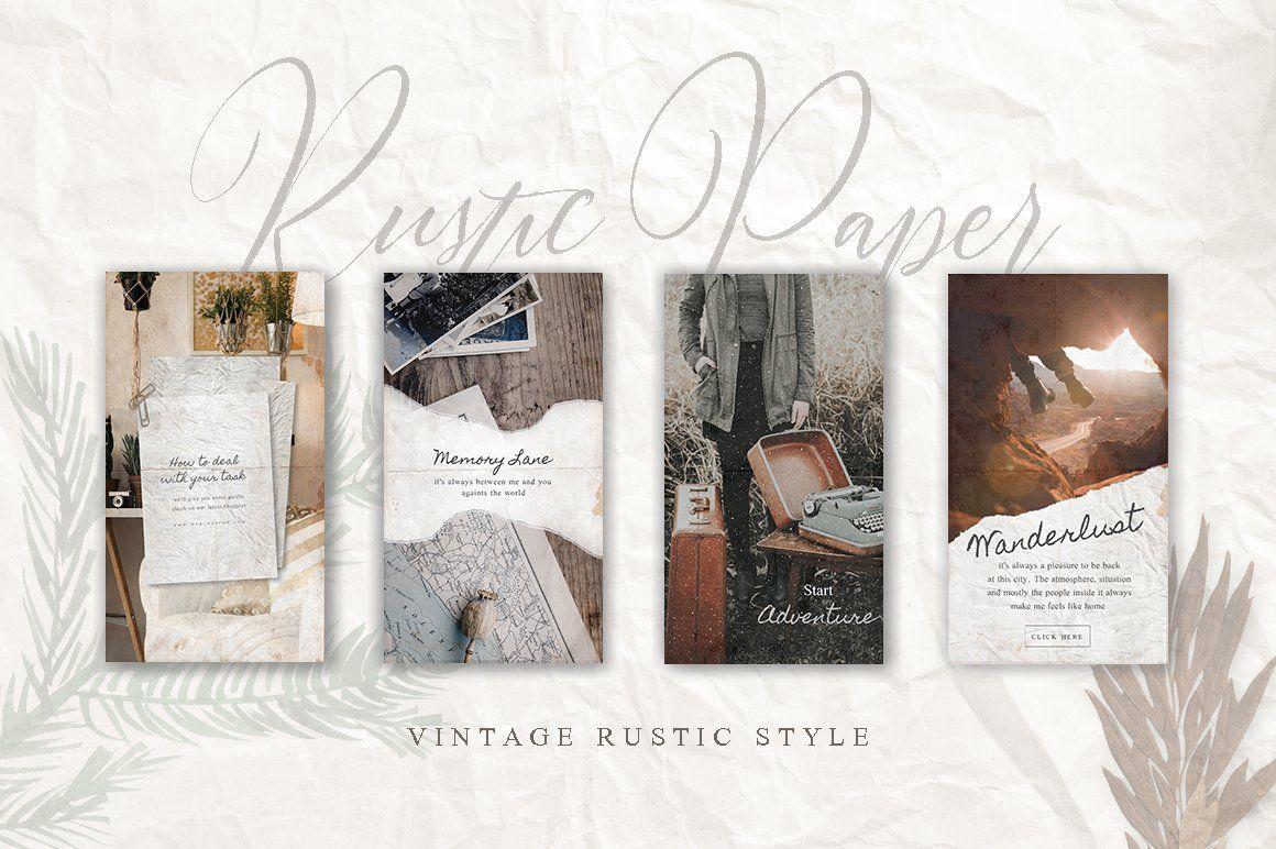 CANVA Rustic Paper Social Media Pack Instagram post