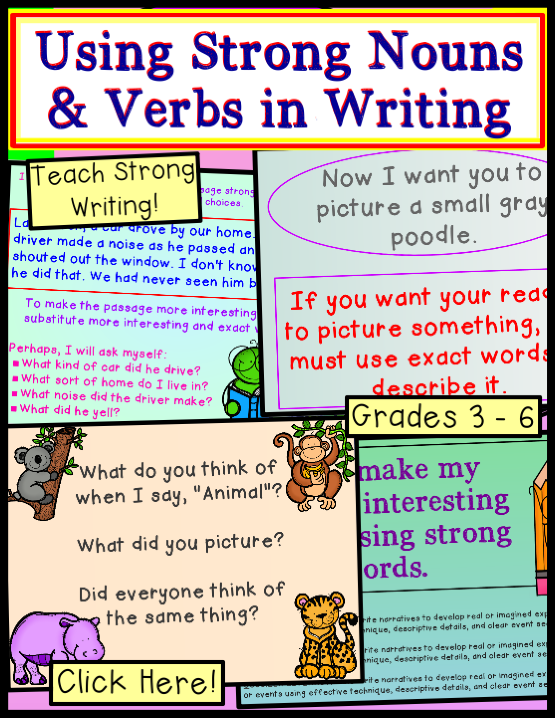 Strong Verbs And Nouns For Writing