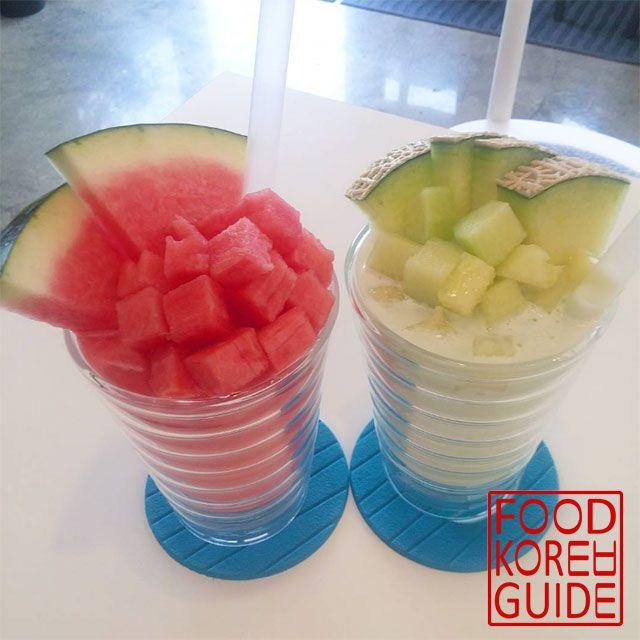 Watermelon Frost and Melon Smoothie 메론 스무디 & 수박 프로스트