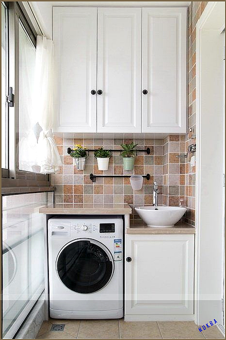How To Organise a Small Washing Machine Yard Area   Recommend.my#area #machine #… Balkon