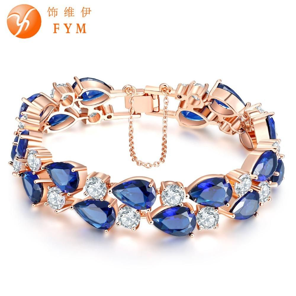 Visit to buy fym brand luxury rose gold color bracelet with