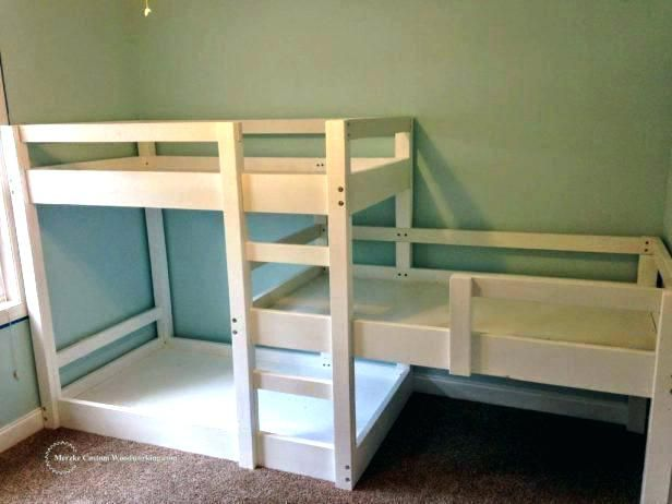 Bunk Bed Height Loft Low Ceiling Corner Plans Bedroom Magnificent L Shaped For 8 Foot