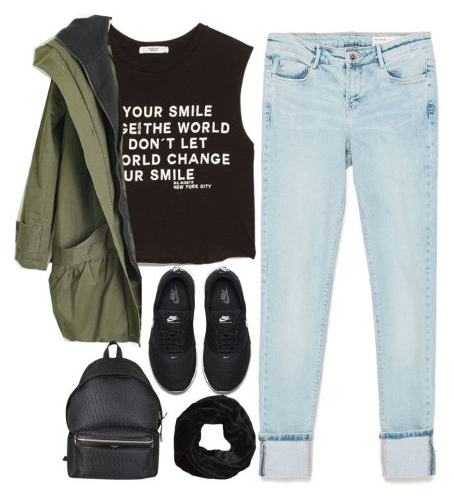 """""""Untitled #185"""" by thebluek-poper ❤ liked on Polyvore featuring Zara, MANGO, NIKE and Yves Saint Laurent"""