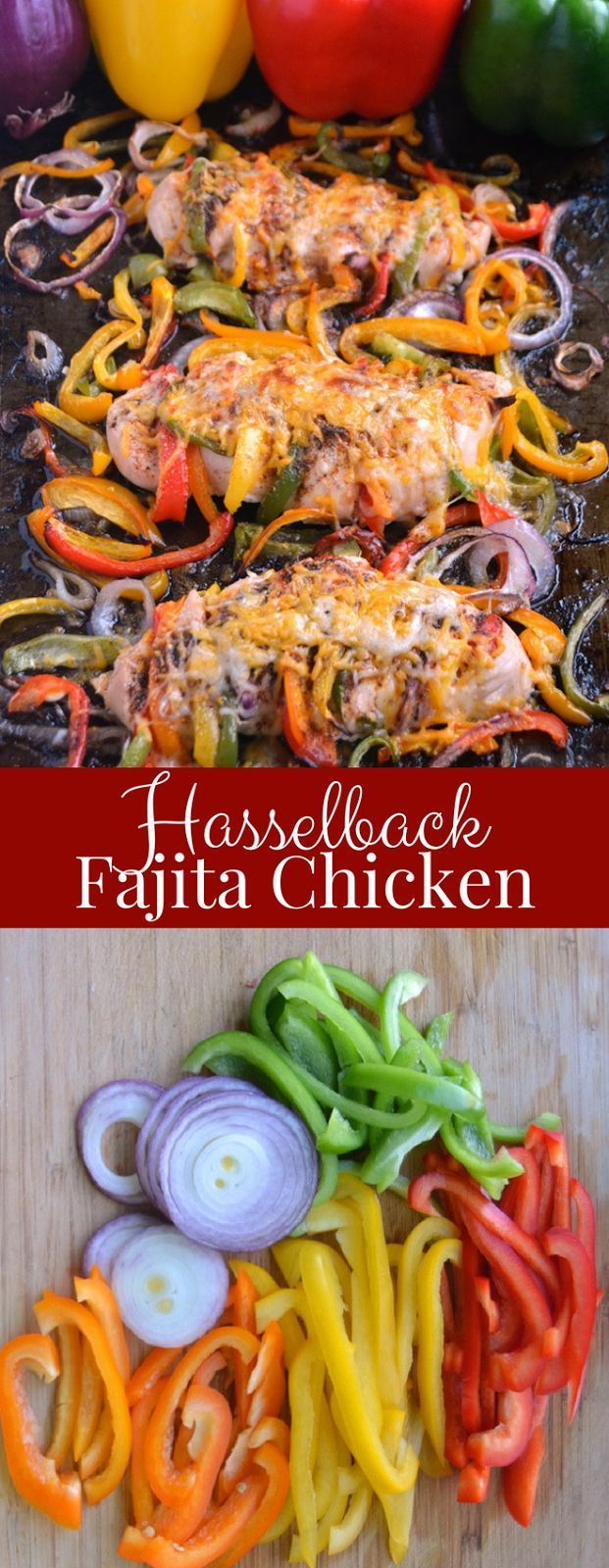Hasselback Fajita Chicken #hasselbackchicken