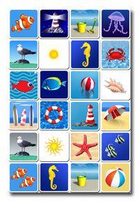 Memory beach to print coquillage et jeux de sable jeu de memory jeux de m moire et jeu de - Jeux memoire a imprimer ...