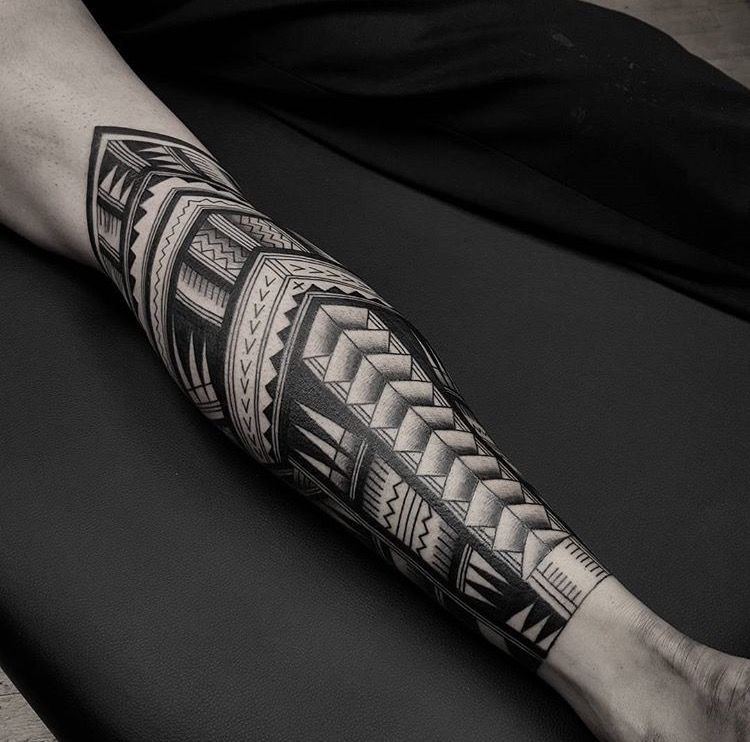 Traditional Maori Tattoos Leg: Traditional Maori Leg Sleeve Done By Tristan (Dead Meat