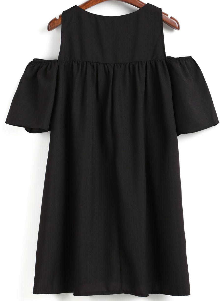 ec010dfd5555b Robe droite épaule dénudée - Noir | mode africaine | Robe, Robe en ...