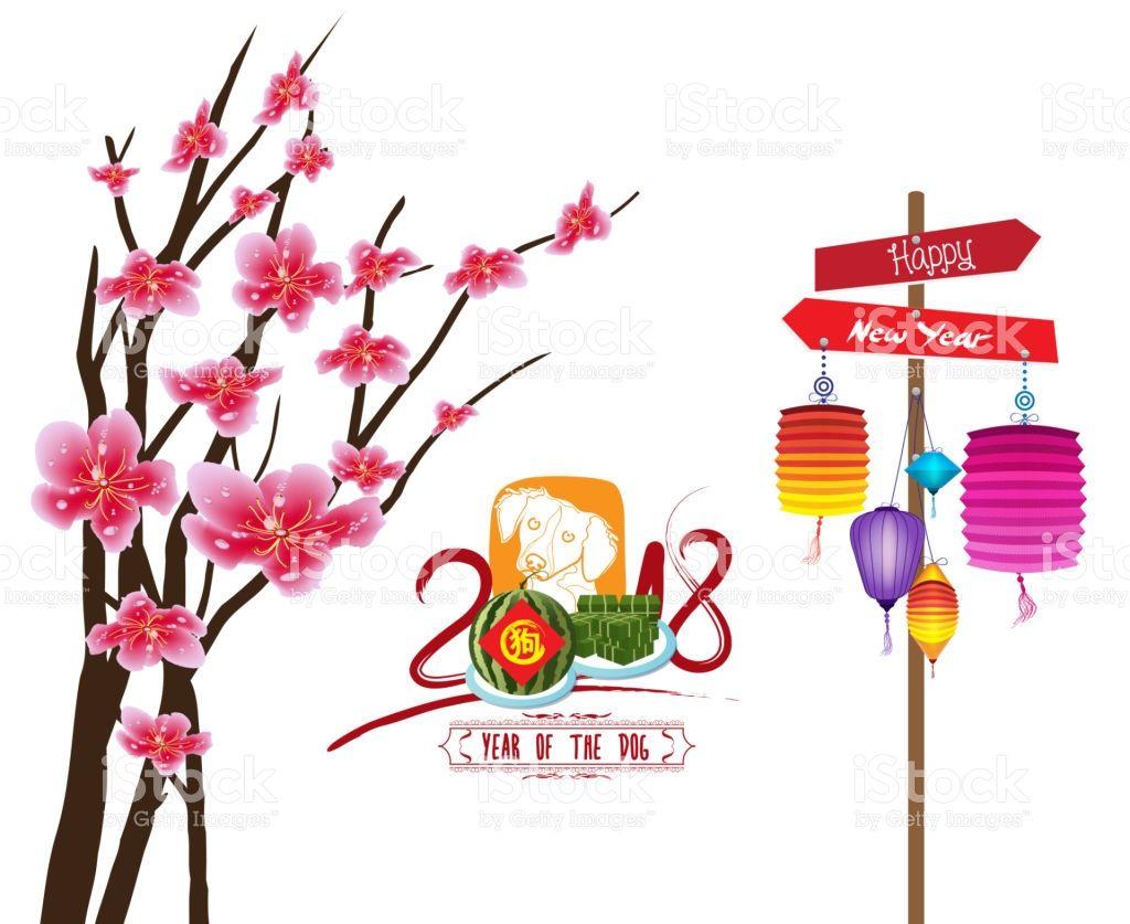 happy new year 2018 zodiac dog lunar new year vector art zodiac rh pinterest com