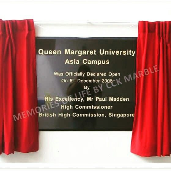 Opening Ceremony Plaque With Reveal Curtain Engraving Of