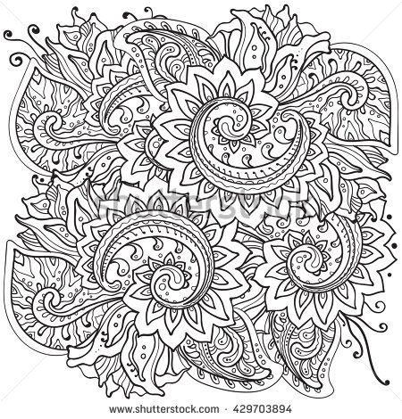 traditional oriental floral ornament with a lot of detail