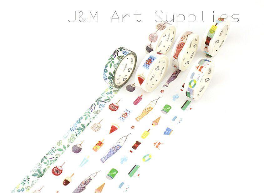6 Rolls 15Mmx7M Summer Swiming Carp Popsicle Fan Washi Tape Diary - ebay spreadsheet