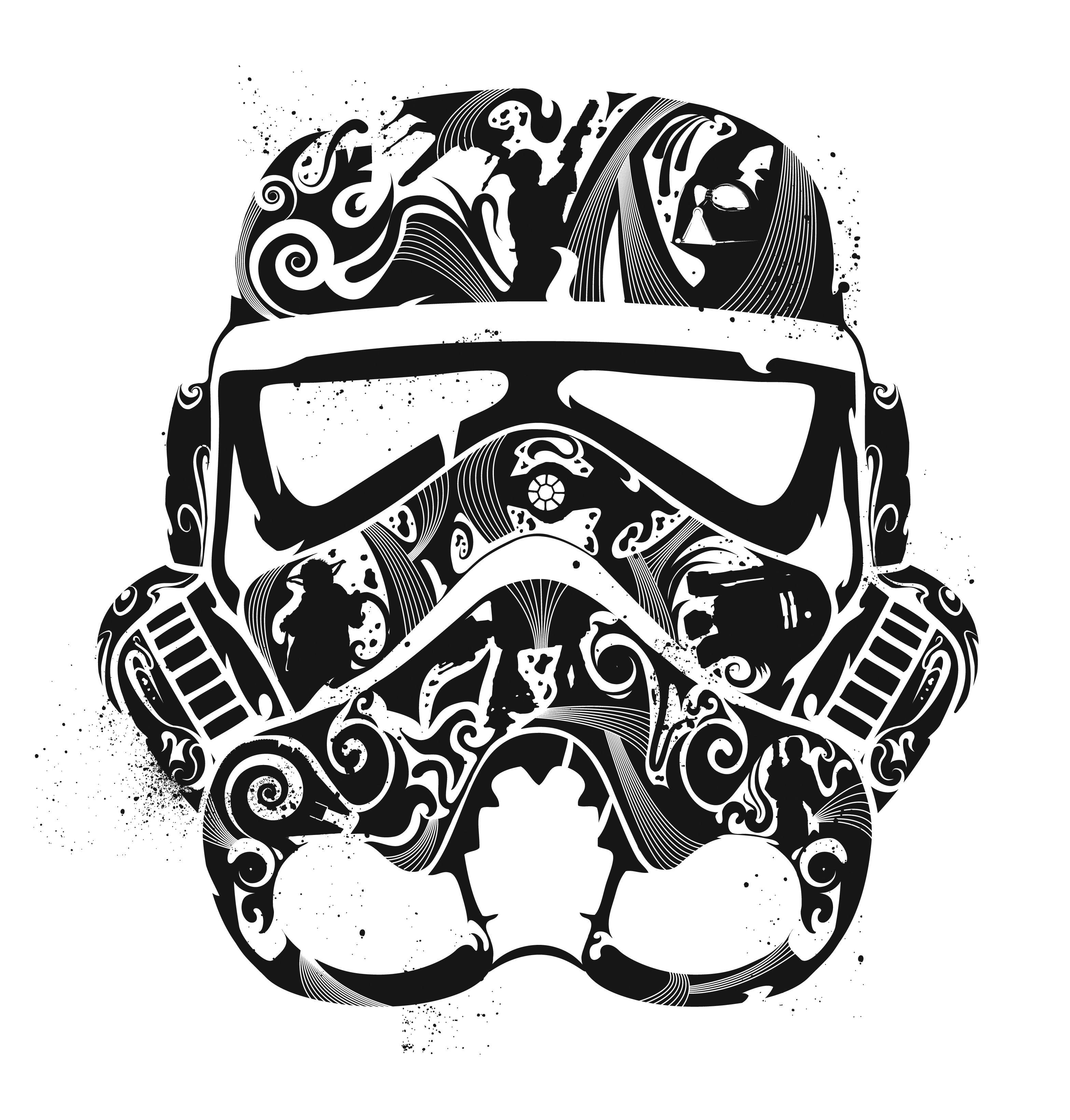 stormtrooper helmet drawing Google Search Coloring