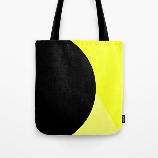 Retro Yellow And Black  Tote Bag