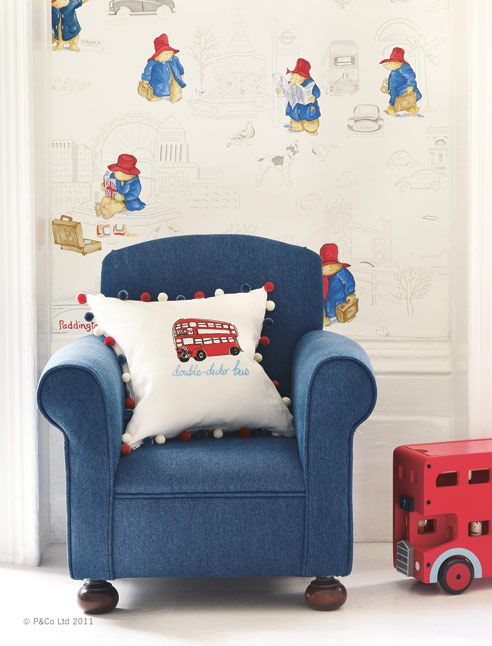 Love This For My Little Guy I Need Wall Paper Pinterest Fabric Wallpaper Nursery And