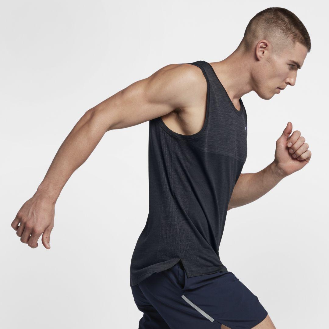 Nike Dri FIT Medalist Men's Running Tank Size L (Anthracite