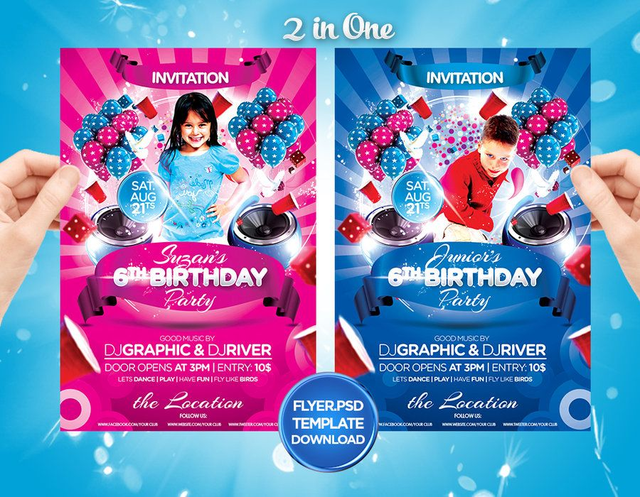 Pin by Mi Lev Emmerich on JDS18th Pinterest Nice designs and - birthday flyer templates free