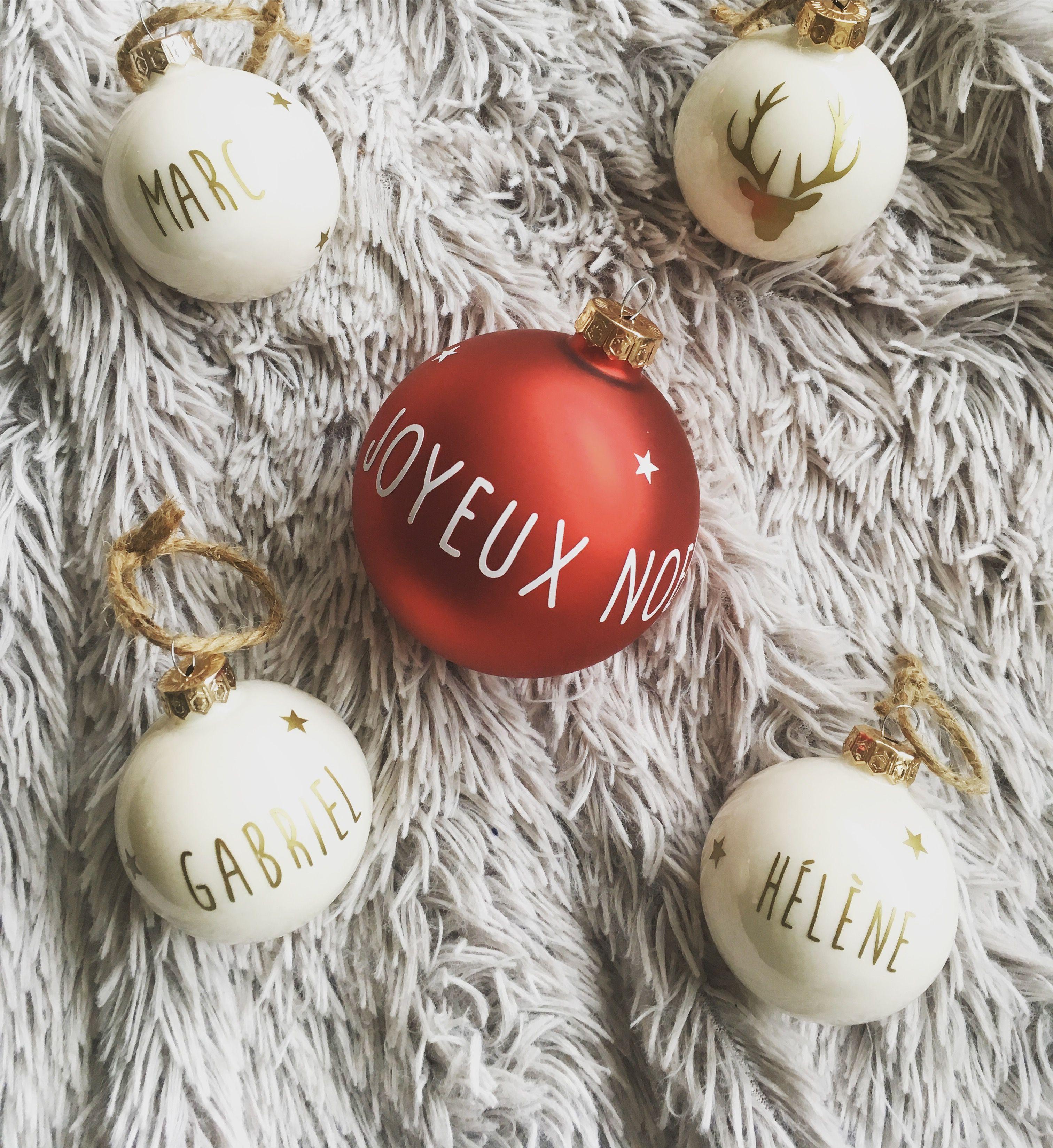 Boules décoratives de Noël personnalisées #espritdenoel 🎄