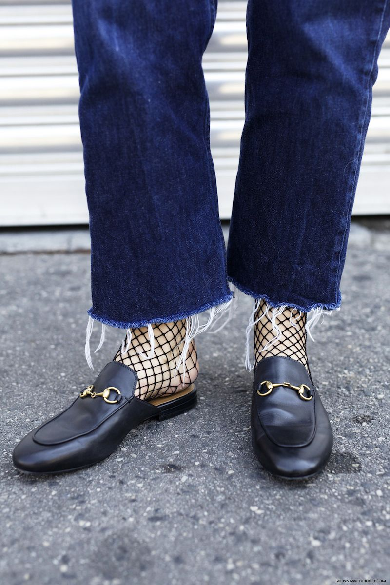 8fbc39da3 Trend: Gucci Princetown Loafers & Fishnet Socks I More on viennawedekind.com
