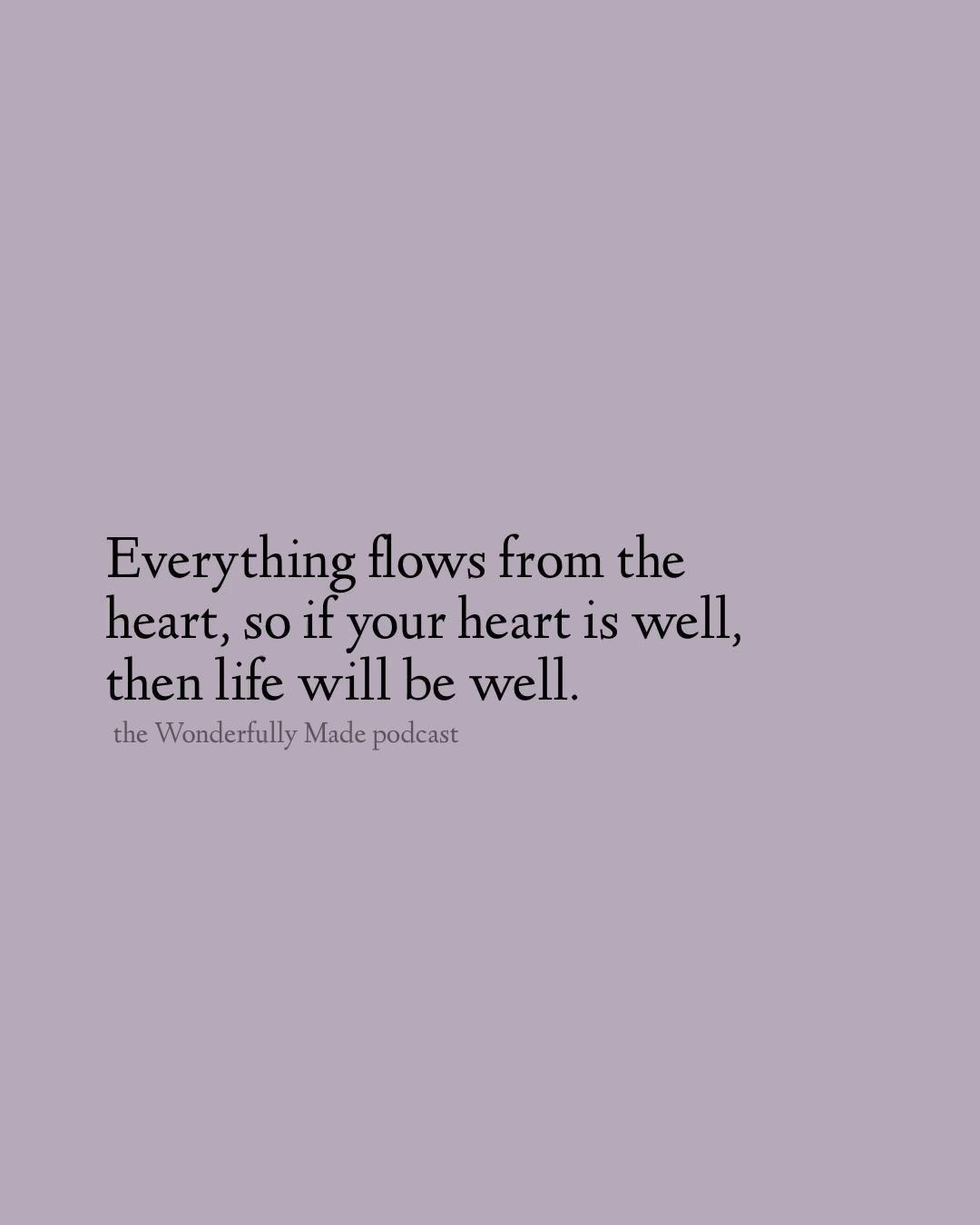 Healing and detoxing the heart