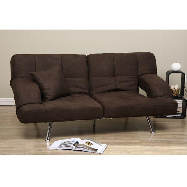 Great Dark Brown Microfiber Sofa Bed   Overstock™ Shopping   Great Deals On Sofas  U0026 Loveseats