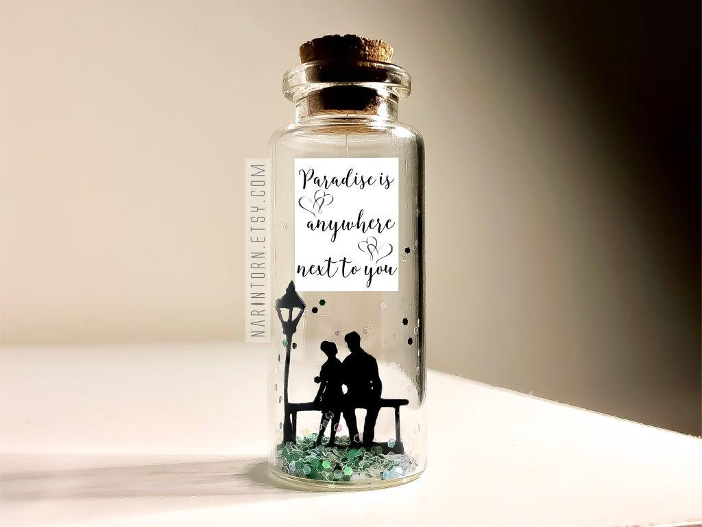 Romantic anniversary gift for him her girlfriend gift