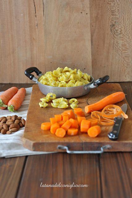Tortellini al PC con vellutata di carote 2 copy by La tana del coniglio, via Flickr