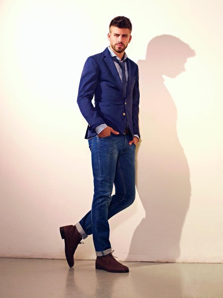 Gerard Piqué for H.E. by MANGO. Perfect denim look