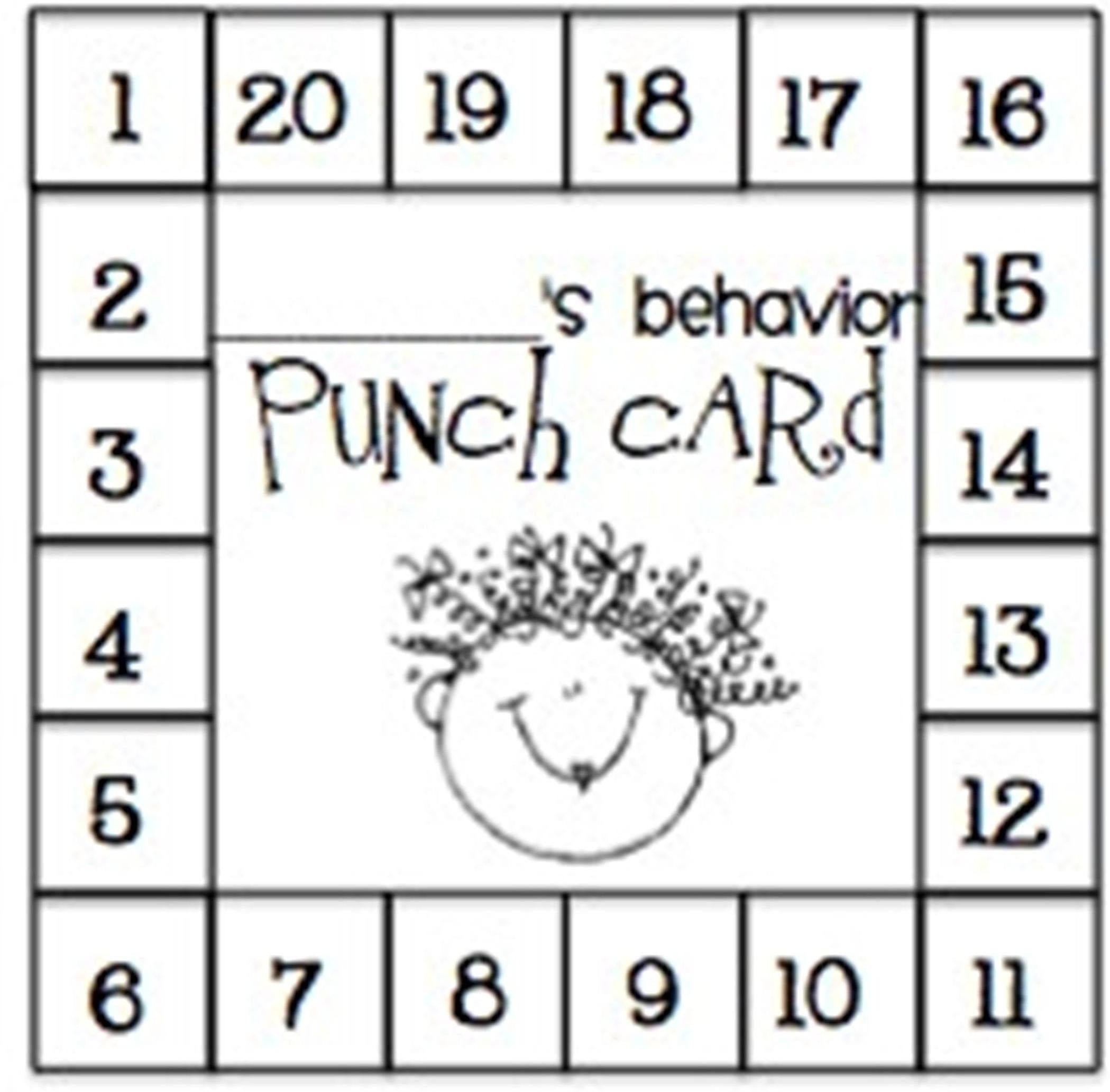 Punch Card Download Behavior Punch Card Pdf Downloadable Etsy In 2021 Teaching Classroom Management Classroom Management Behavior Punch Cards