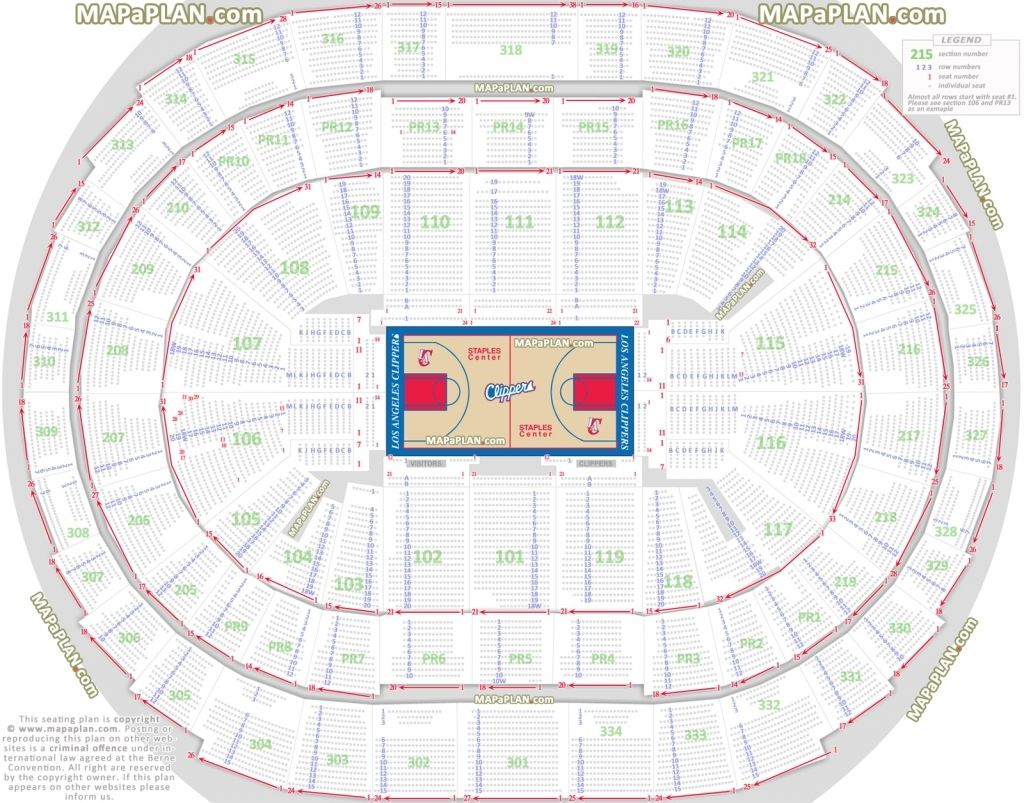 Sap Center Seating Chart With Seat Numbers Seating Charts Staples Center Concert Home Theater Seating