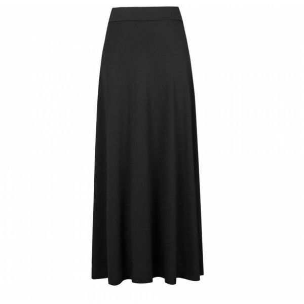 Ally Fashion Plain casual jersey maxi skirt (16 AUD) ❤ liked on ...