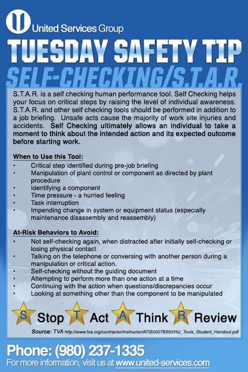 This Week S Tuesday Safety Tip Is About The Human Performance Tool