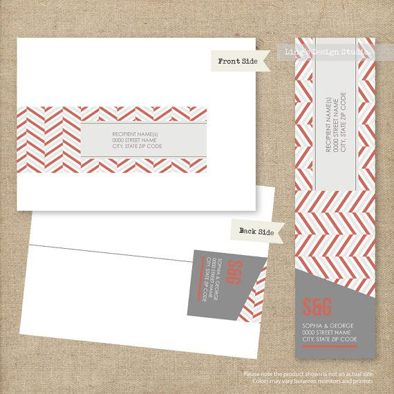 Modern Wrap Around Address Labels  Printable by LingsDesignStudio, $12.00