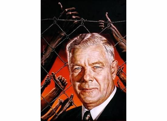 Hendrik Verwoerd - later assassinated