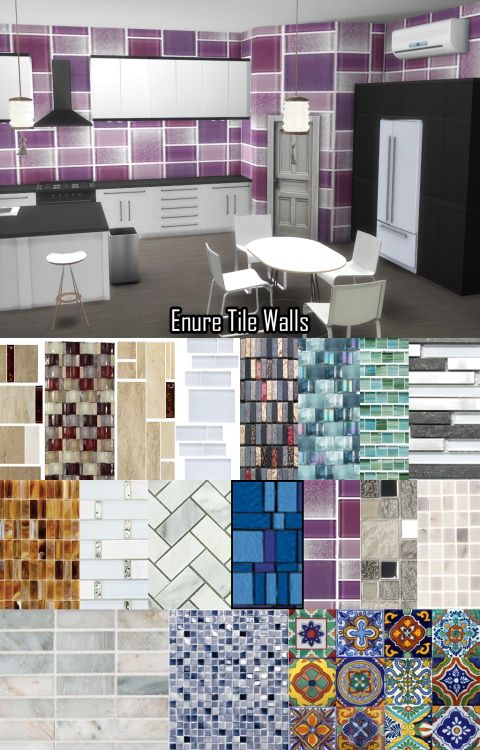 Tile Wallpaper At Enure Sims Via Sims 4 Updates Sims 4 Houses