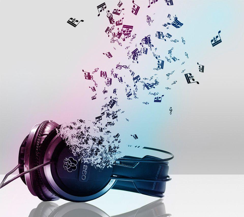 Headphones Music Notes