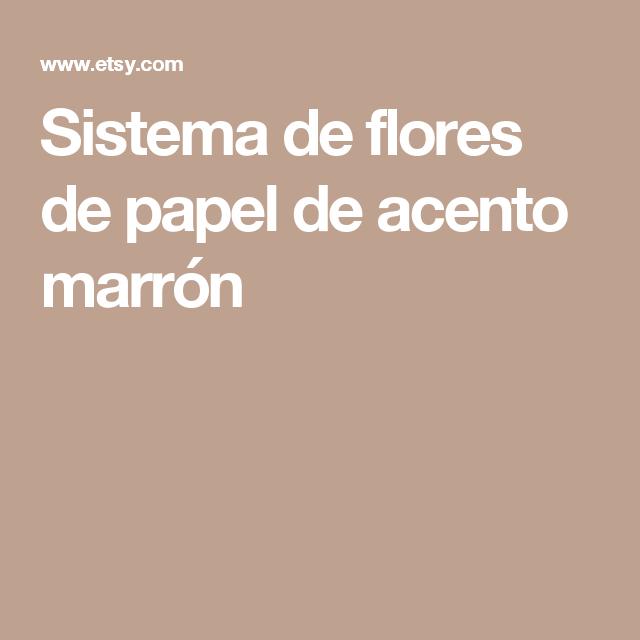 Sistema de flores de papel de acento marrón
