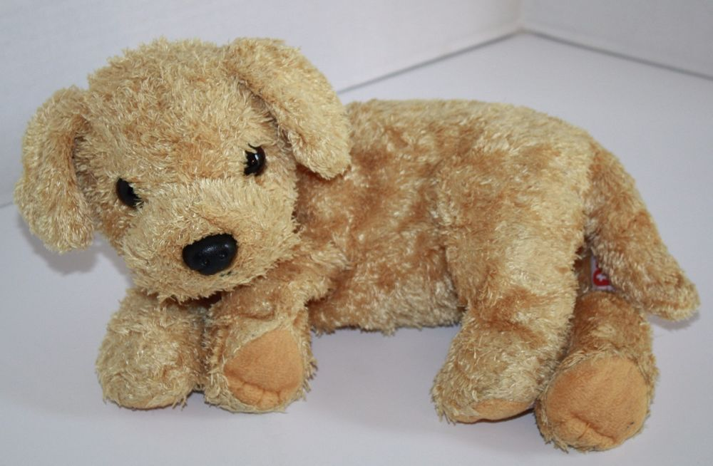 80784b4b875 TY Classic SKIPPY the puppy Dog. Pretty Tan -Brown Golden Retriever Laying  on side. Nice Plush Soft Toy Stuffed  Ty  TyClassic