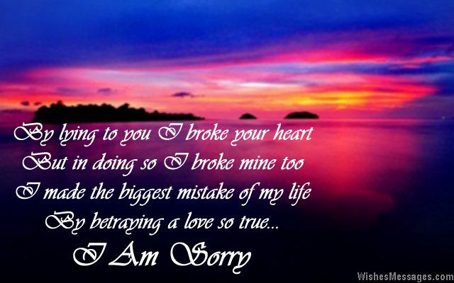 By lying to you I broke your heart. But in doing so I broke mine ...