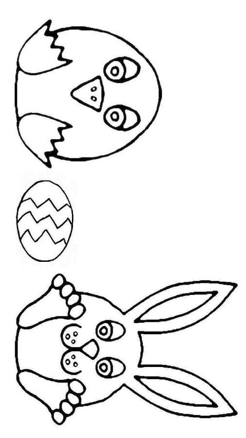 Easter Egg Coloring Pages Easy
