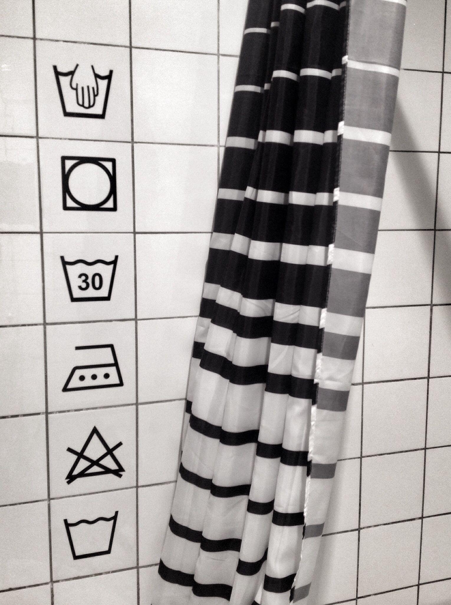 Tegelstickers wassymbolen badkamer | Bathroom | Pinterest