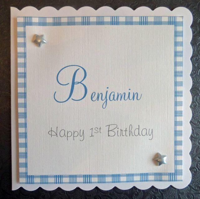 Personalised Handmade Childrens Birthday Card SC Baby - Handmade childrens birthday cards