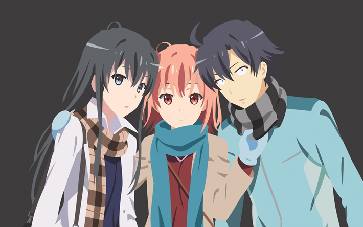 Download wallpapers Hamachi, OreGairu, Yahari Ore no Seishun Love Comedy wa Machigatteiru, manga, Anime-series, novels besthqwallpapers.com
