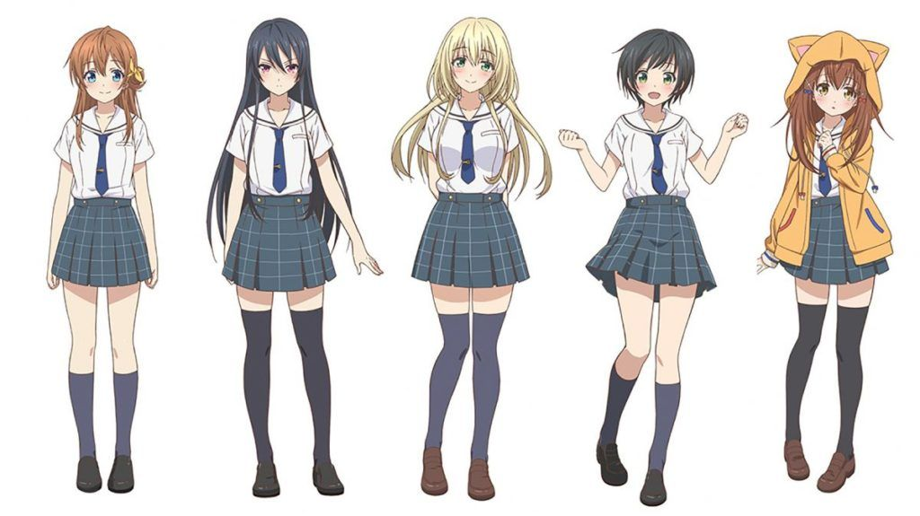 Characters From Anime Hachigatsu No Cinderella Nine Anime